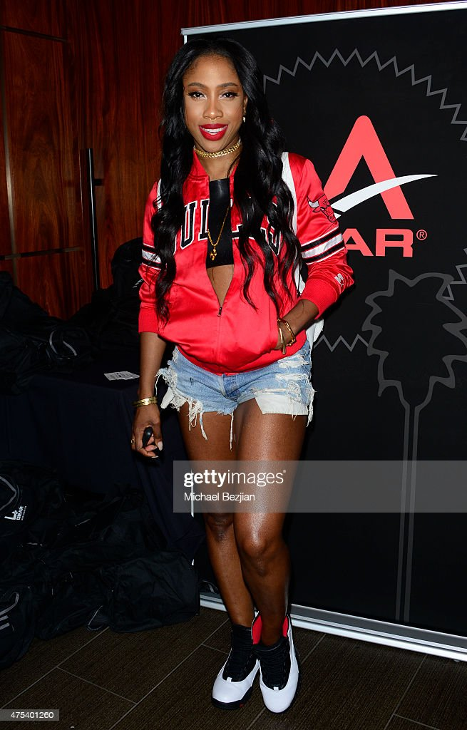 Sevyn Streeter attends LA Gear Presents Sports Spectacular Charity Basketball Game Hosted By Tyga on May 30, 2015 in Los Angeles, California.