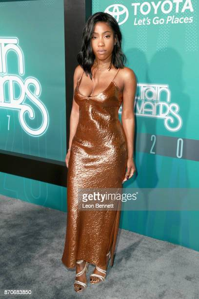 Sevyn Streeter attends the 2017 Soul Train Awards presented by BET at the  Orleans Arena on 5dbb4cd2031