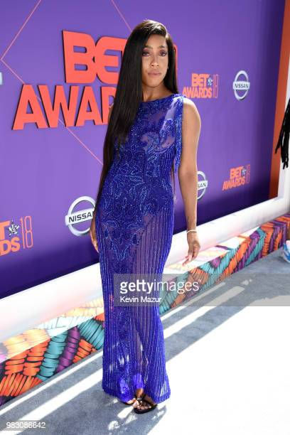 Sevyn Streeter attends the 2018 BET Awards at Microsoft Theater on June 24 2018 in Los Angeles California