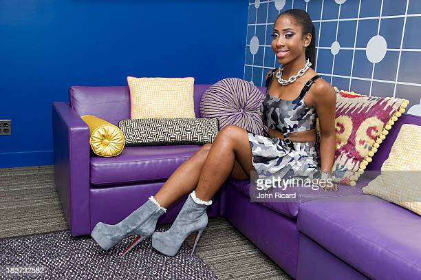Sevyn Streeter poses during a portrait session at BET Studios on October 8 2013 in New York City