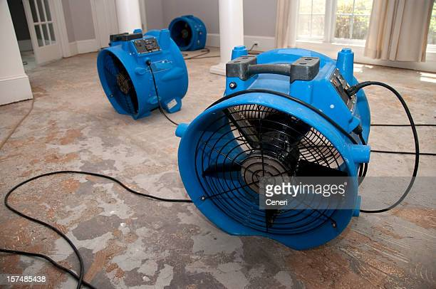 sewage flood home restoration - flooding stock photos and pictures
