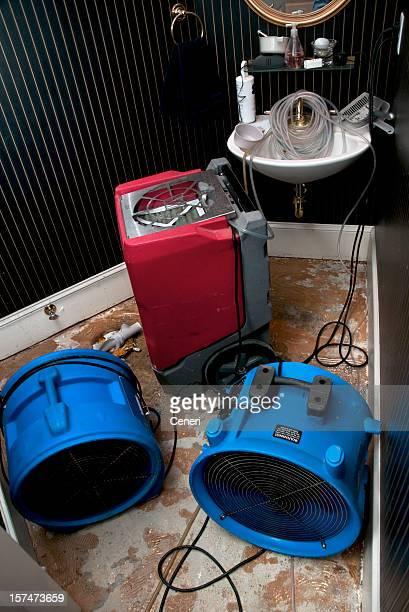 Sewage flood home restoration: Residential Bathroom