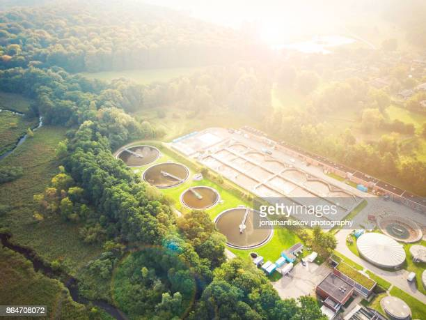 avloppsreningsverk - avloppsvatten bildbanksfoton och bilder