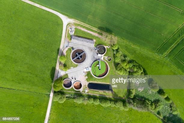 Planta de tratamiento de aguas residuales - depuración de aguas residuales