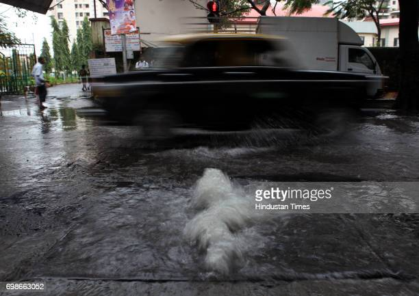 Sewage water coming out of Gutter after each heavy rainfall since two month on Dr Babasaheb Ambedkar road at Byculla in mumbai