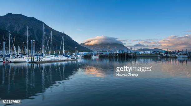seward, alaska - kenai mountains stock pictures, royalty-free photos & images