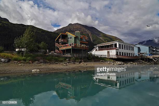 seward reflections - golfo do alasca imagens e fotografias de stock