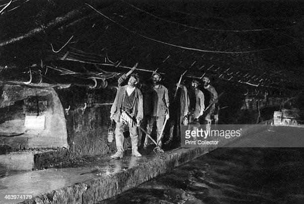 Sewer cleaners in the Main Sewer Paris 1931 Illustration from the book Paris published by Ernest Flammarion
