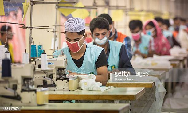 Sewers of the textile factory Zaber and Zubair Fabrics Ltd on December 08 2014 in Tongi Bangladesh 65 percent of the production is sold to IKEA
