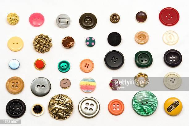 sewing buttons - knoop naaigerei stockfoto's en -beelden