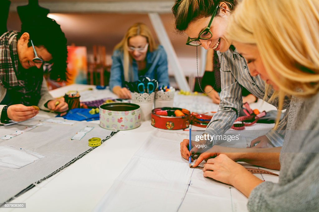 Sewing class. : Stock Photo