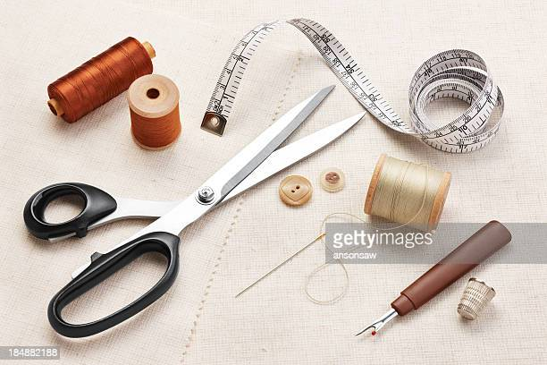 sewing items - thimble stock photos and pictures