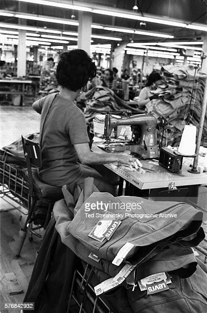 Sewing Jeans at Levi Strauss Plant