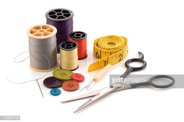 Sewing Kit with Needle, Thread, Button, Scissors, and Tape Measure