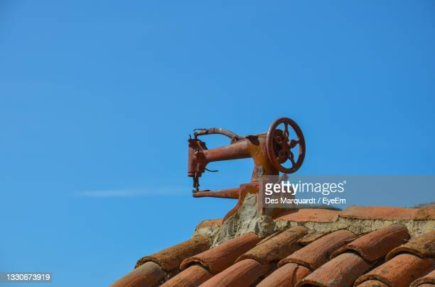 sewing machine on rooftop - tejeda canary islands stock pictures, royalty-free photos & images