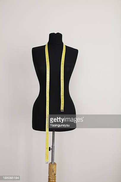 Sewing mannequin and tape measure