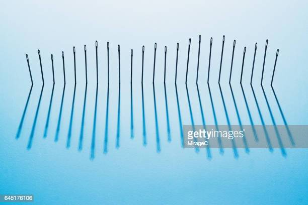 Sewing Needles In A Row
