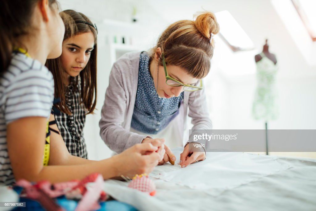 Sewing School For Kids Stock Photo Getty Images
