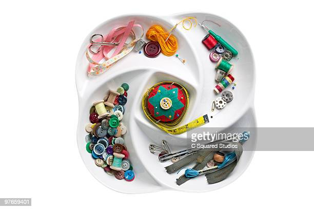 sewing supplies - ribbon sewing item stock pictures, royalty-free photos & images
