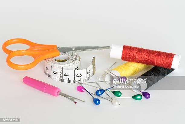 sewing tools - sewing stock pictures, royalty-free photos & images