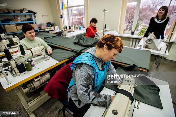 Sewing workshop 'Radomyshlianka' making clothes for ATO soldiers Radomyshl Ukraine 31 of January 2015 Photo by Oleksandr Rupeta
