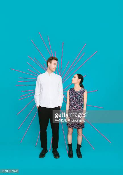 sewn up - heterosexual couple stock pictures, royalty-free photos & images