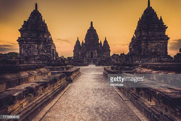 sewu buddist temple in java, indonesia - yogyakarta stock photos and pictures