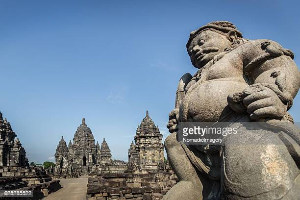 Sewu Temple Guarded by a Statue
