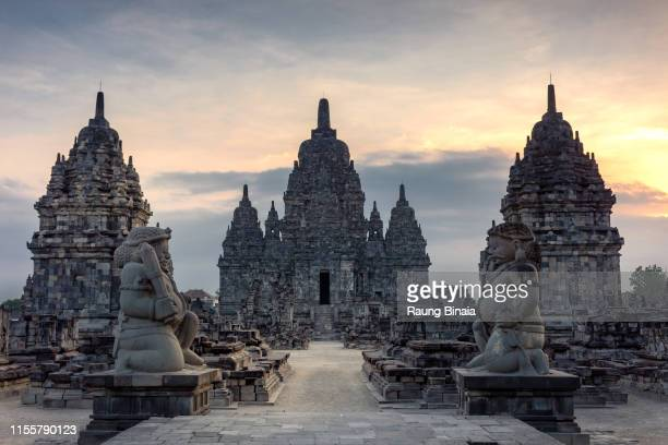sewu temple in colors - yogyakarta stock pictures, royalty-free photos & images