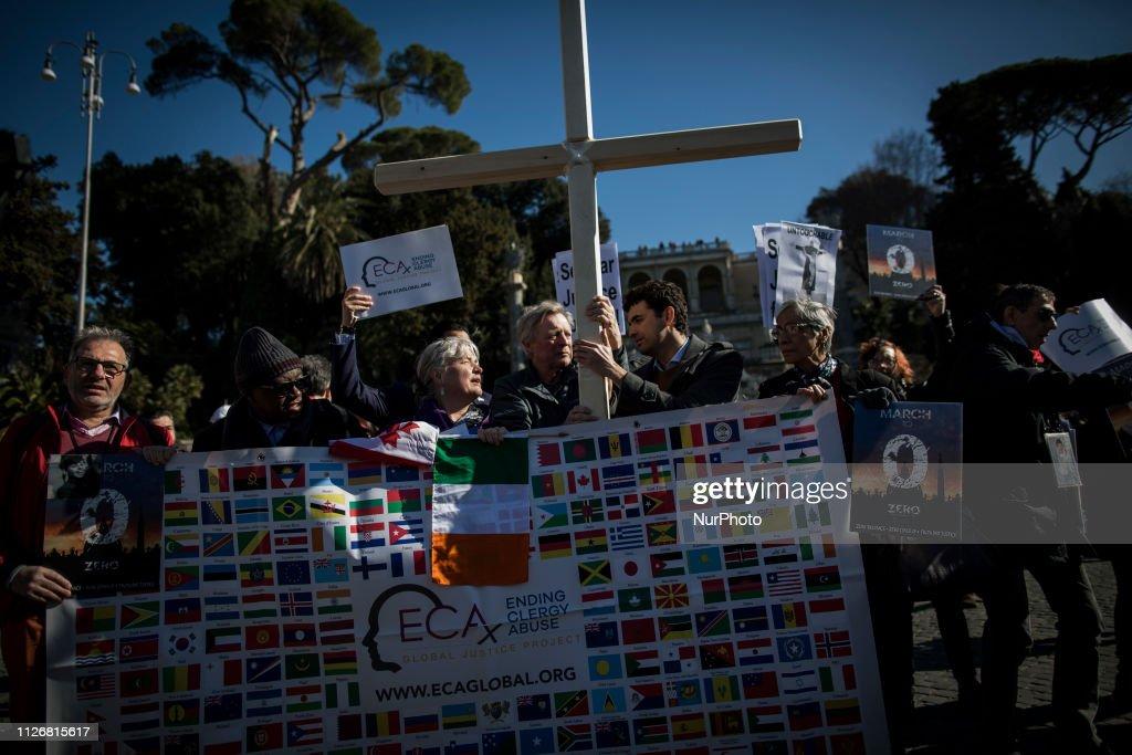 ITA: Sex Abuse Survivors March In Rome