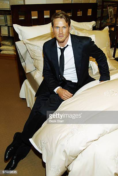 'Sex and the City' actor Jason Lewis launches Charisma luxury beddingline at Bloomingdale's on March 4 2010 in Century City California
