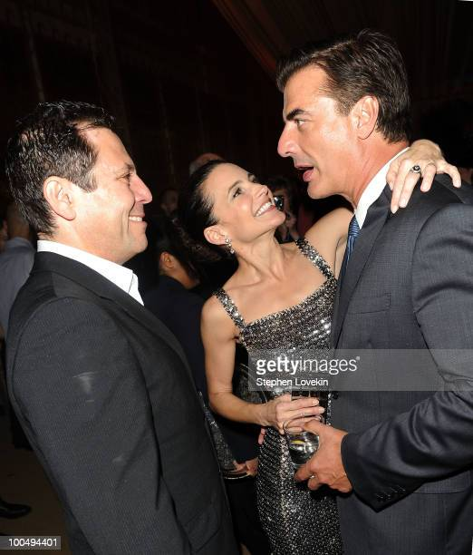 'Sex and the City' creator Darren Star actress Kristin Davis and actor Chris Noth attend the after party following the premiere of Sex and the City 2...