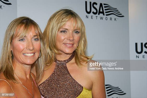 Sex and the City star Kim Cattrall is joined by her sister Cherry Kuss at a USA Network party for the start of the 2003 US Open at Ace's restaurant...