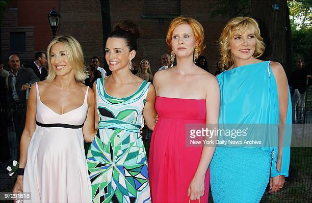 Sex and the City stars Sarah Jessica Parker, Kristin Davis, Cynthia Nixon and Kim Cattrall get together at a screening of their HBO show's...