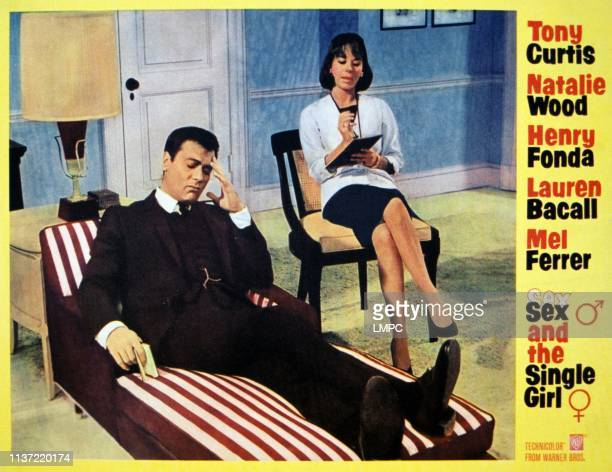 Sex And The Single Girl lobbycard from left Tony Curtis Natalie Wood 1964
