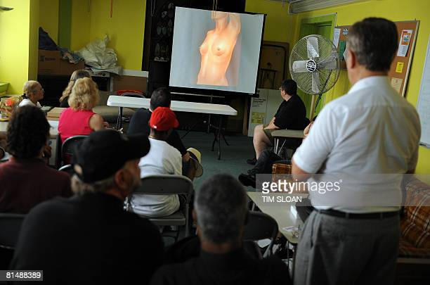 A sex change surgeon presents a slide show on the transistion from male to female or female to male on June 7 2008 at the Foundry United Methodist...