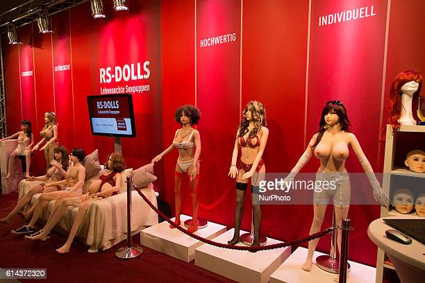 Sex dolls are pictured in a stand at the 20th Venus Erotic Fair in Berlin Germany on October 13 2016