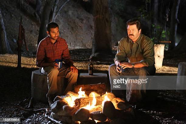 RECREATION 'Sex Education' Episode 504 Pictured Aziz Ansari as Tom Haverford Nick Offerman as Ron Swanson