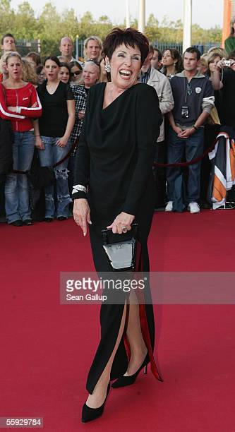 Sex expert Erika Berger arrives at the German Television Awards at the Coloneum on October 15 2005 in Cologne Germany