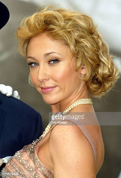 Sex Kitten Jenny Frost as a glamourous Grace Kelly in High Society to launch Sky Classic Film Nights on Heddon Street London on August 9 2005