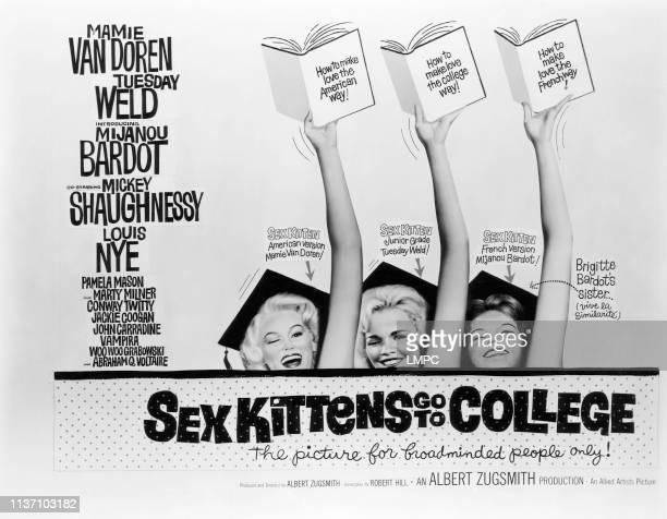 Sex Kittens Go To College poster Mamie Van Doren Tuesday Weld Mijanou Bardot 1960