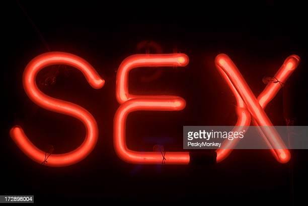 Sex-Nachricht in roter Neon Sign