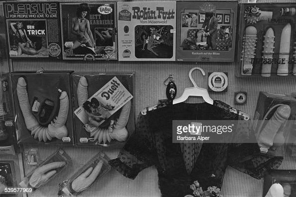 A sex shop in Frankfurt airport, Germany, 20th June 1980