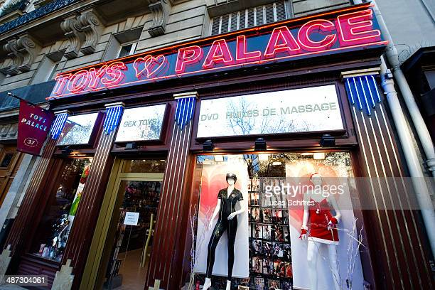 Sex shop in Pigalle Paris red light district France on December 20 2013 Booming property prices are killing off Paris' notorious redlight district of...