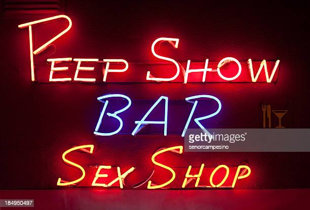 sex shop - red light district stock-fotos und bilder