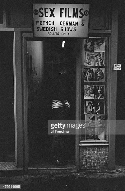 A sex shop showing sex films in London England 1969