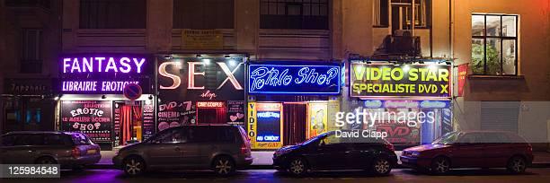 Sex shops at Pigale, Paris, France