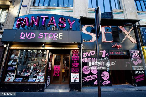 Sex shops in Pigalle Paris red light district France on December 20 2013 Booming property prices are killing off Paris' notorious redlight district...