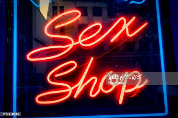 sex shops in the soho district of central london - nightclub stock pictures, royalty-free photos & images
