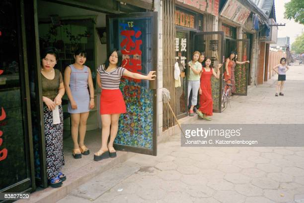 Sex workers in the Chinese city of Dingshan in Jiangsu Province China a centre of the pottery industry 5th May 2000